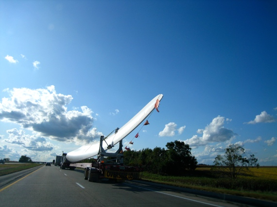 windmill blades on the road!